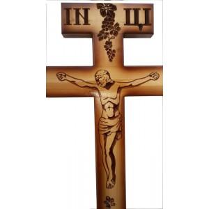 Крест сосновый с художественной резкой