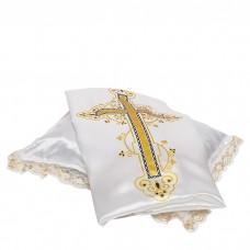 Комплект погребальный атлас с крестом