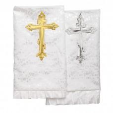 Комплект погребальный Жаккард с крестом