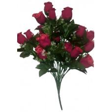 Б014  Букет бутончиков роз бархат 24г. 55см