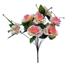 Б042  Букет роза раскрытая атлас 12 г 45см