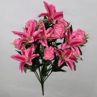 Букет лилия-роза 13г 67см