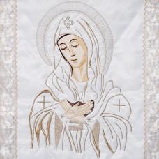 """Комплект погребальный с вышивкой """"Богородица в цвете"""""""