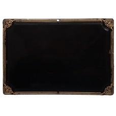 Табличка пластиковая с золотым кантом