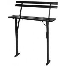 скамейка ритуальная  с металлическим сиденьем и спинкой
