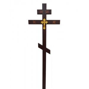 Крест сосновый с  фольгой