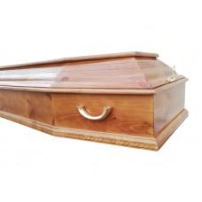"""Гроб шестигранный лакированный """"Сосна"""""""