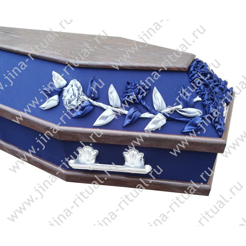 """Гроб шестигранный комбинированный """"Декор"""" синий"""